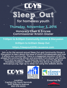 CCYS Sleep Out 2016